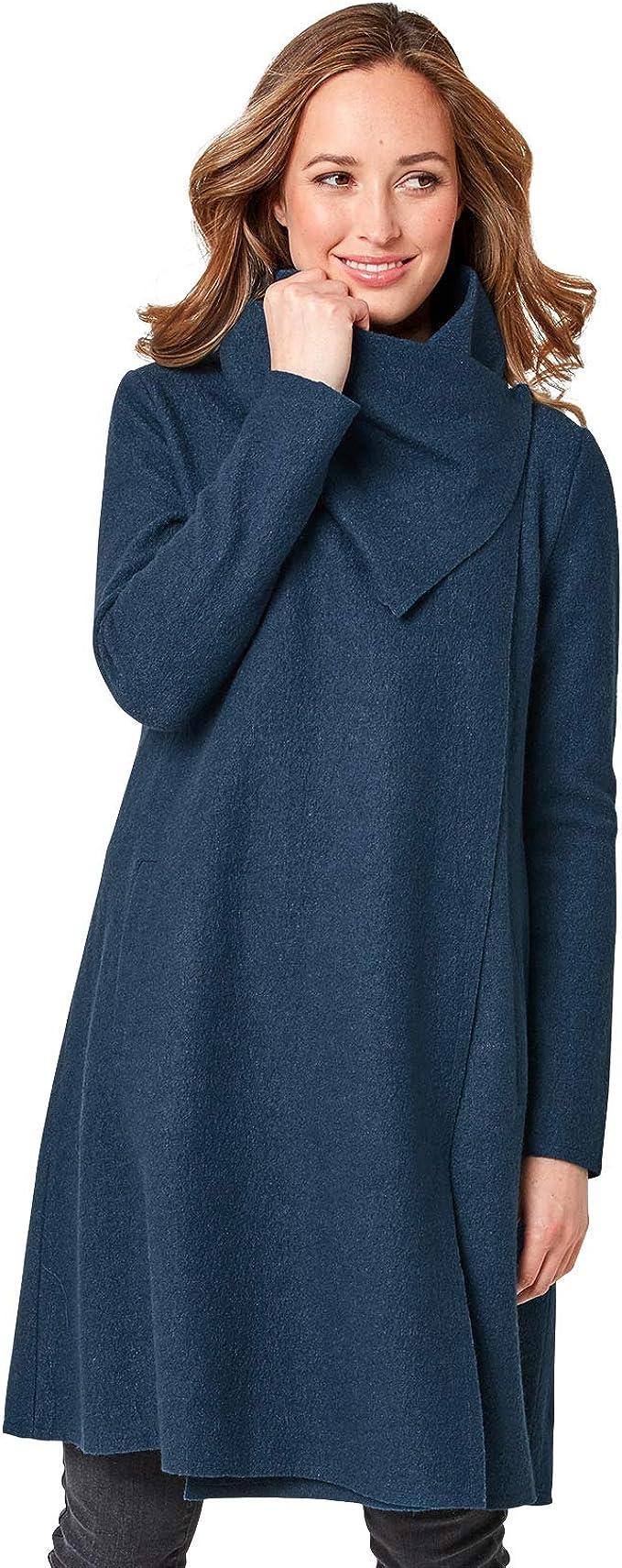 Joe Browns Womens Longline Felted Wool Wrap Cardigan Sweater