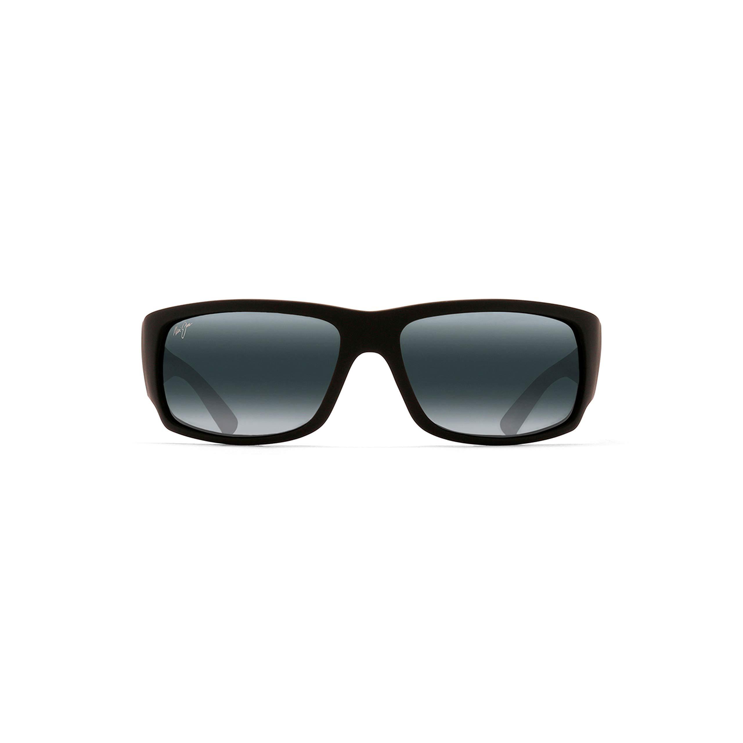 Maui Jim Sunglasses | World Cup 266-02MR, Matte Black Rubber, with Patented PolarizedPlus2 Lens Technology by Maui Jim