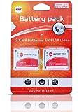 2 x batteries ENEL19 EN-EL19 MP EXTRA ® pour NIKON - Batterie optimisée pour NIKON