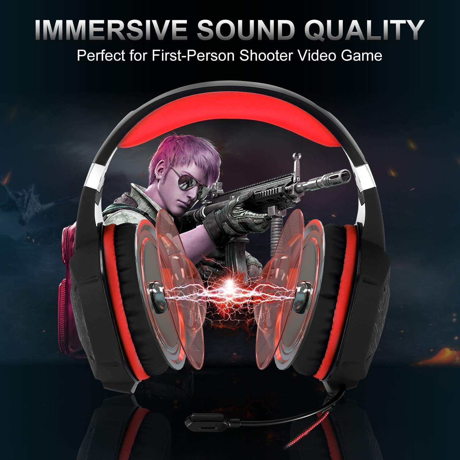 2 in 1 Wireless /& Wired Optical Mice with USB 6000 DPI Adjustable Gaming Mouse Wireless Rechargeable Laptop Grip Ergonomic Optical PC Computer Gaming Mice with Fire Button