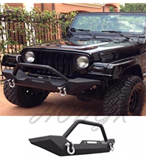 Mbrp 130716 black coated front light bargrill guard system hongk 87 06 jeep wrangler tj yj rock crawler guard front bumper winch d mozeypictures