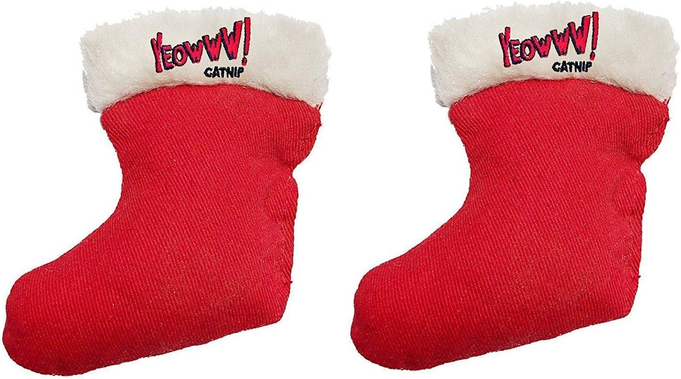 Yeowww! Duckyworld 100% ORGANIC Flower Leaf Catnip Cat Toy Christmas 2 Stockings