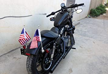 GUAIMI Motorcycle Adjustable Flag Pole Mount with 6 x 9 Inch Canada Flag For Harley Davidson H-onda Goldwing CB VTX CBR Y-amaha