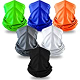 Elimoons Bandanas for Men & Women Breathable Cooling Neck Gaiters,Summer UV Protection Face Cover Outdoor Sport Reusable Face