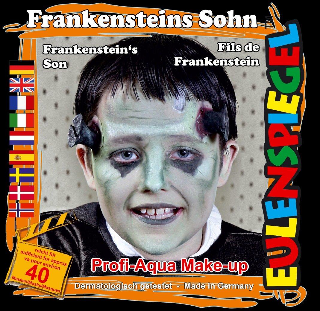 Eulenspiegel 204719Face Painting Kit Franken Stone Son, Brush & Instructions–4Colours