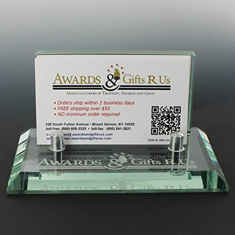 Amazon jaded glass business card holder beveled edges jaded glass business card holder beveled edges includes personalization colourmoves