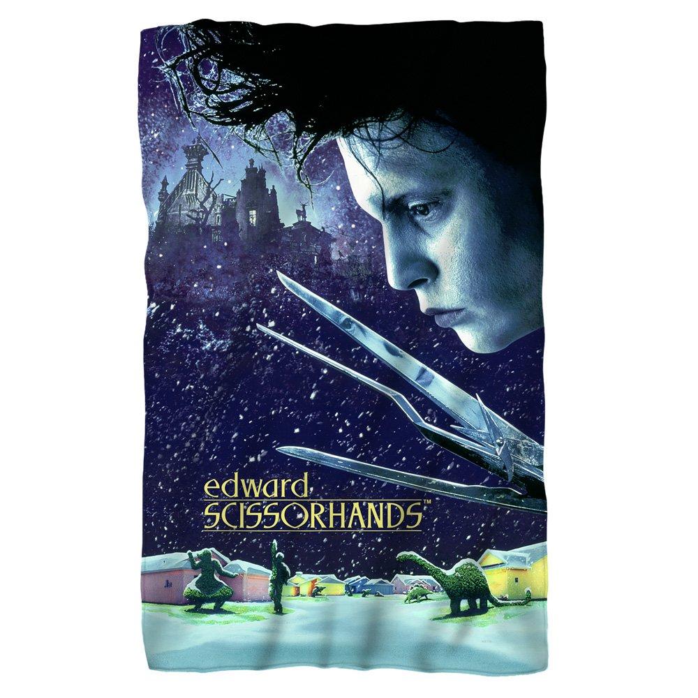 Movie Poster -- Edward Scissorhands -- Fleece Throw Blanket (36''x58'')