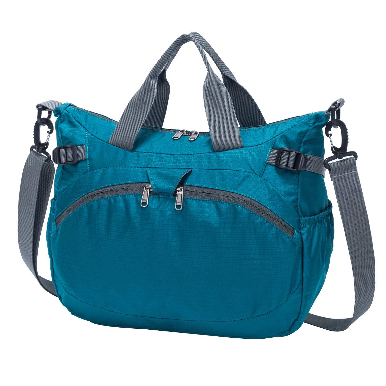 BLACK Aveler 20L Unisex Multifunctional Crossbody Bag Water Resistance Messenger Shoulder Bag with straps and handheld