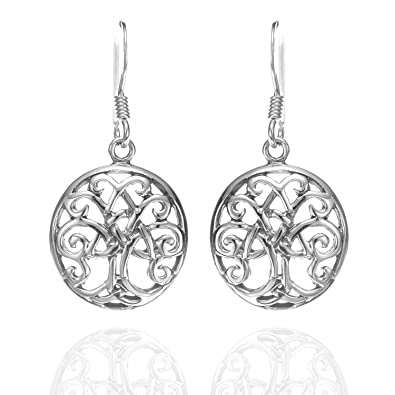 Amazon.com: 925 Sterling Silver Celtic Tree Of Life Trinity Knot ...