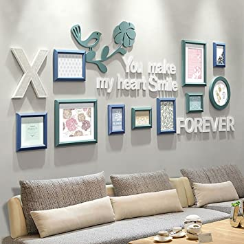 U0026Dekorative Wände Bilderrahmen Wand Set   10 Bilder Aus Holz, Kreative Sofa  Hintergrund Wandrahmen