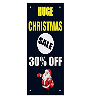 huge christmas sale 30 off custom double sided vertical pole banner sign 24 in x - Amazon After Christmas Sale