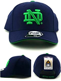 bcb2c1210a8 Outerstuff Notre Dame Fighting Irish New Youth Kids Blue Adjustable Era Hat  Cap