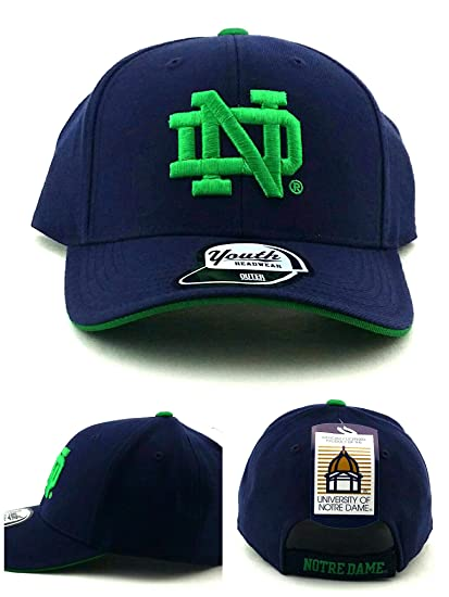 newest d0eba 57973 Amazon.com   Outerstuff Notre Dame Fighting Irish New Youth Kids Blue  Adjustable Era Hat Cap   Clothing