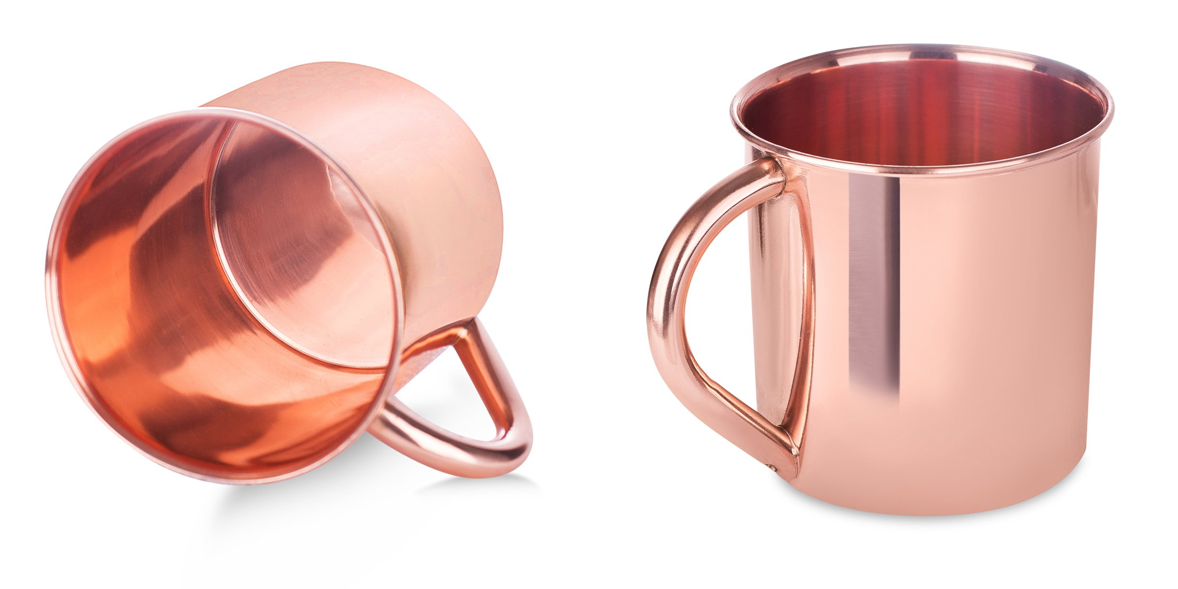 BirdRock Home 100% Copper Moscow Mule Mugs | Set of 2 | Cup | Home and Kitchen | Cocktails | Drinks