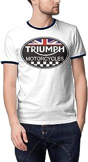 Mens Guys O-Neck Short Sleeve Champion Triumph-Motorcycles-Logo- Tshirts