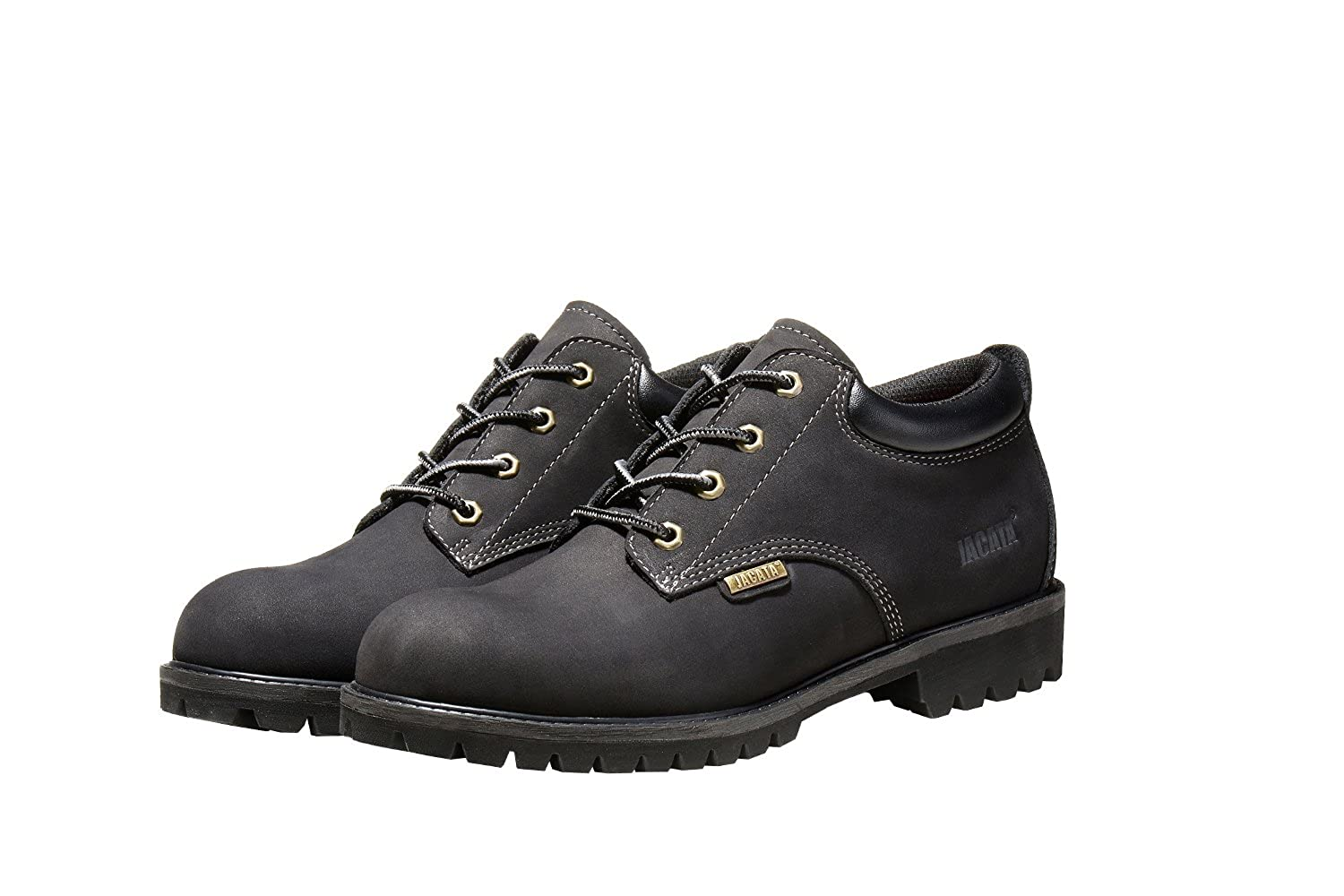 Jacata Mens Low-Cut Work Boots Water Resistant Boots Heavy Duty Natural Rubber Blend Soles