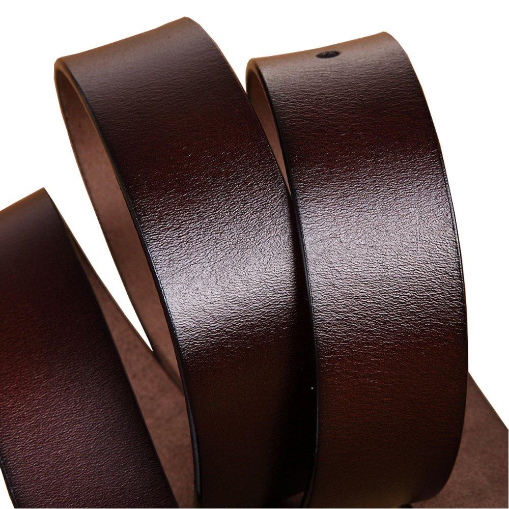 JingHao A5 Vintage Real Leather Belts for Men Simple Casual Designer Belt