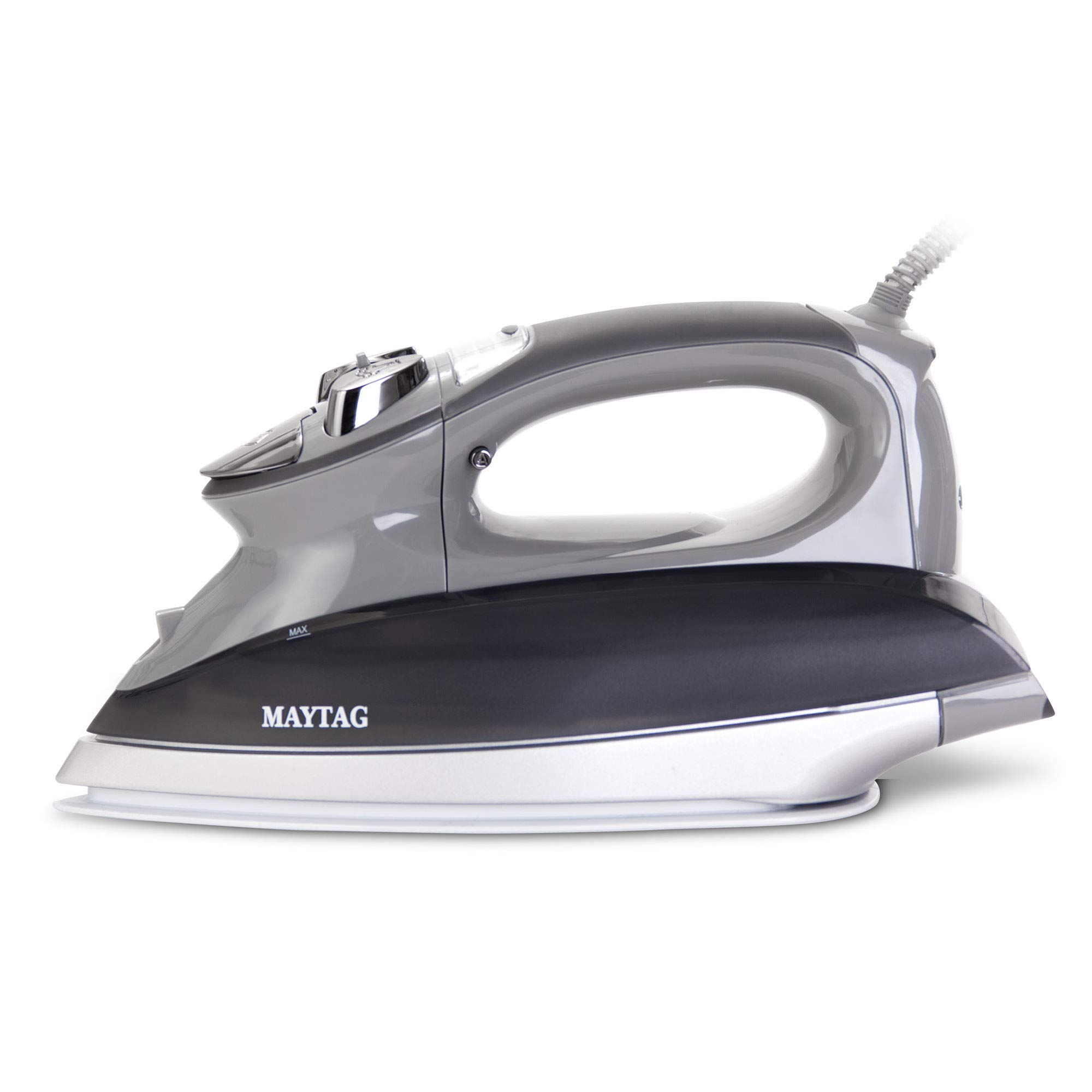 Maytag M1200 Digital Smart Fill Steam Iron & Vertical Steamer with Pearl Ceramic Sole Plate, Self Cleaning Function + Thermostat Dial