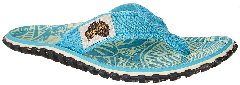 Gumbies Damen Zehentrenner - Rosa/Blau Schuhe in Uuml;bergrouml;szlig;en  42 EU|Turquoise
