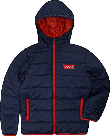 Levi's Big Boys' Puffer Jacket, Dress Blues, XL