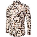 Yvelands Ofertas de liquidación! Camisas Informales para Hombres Camisa  Ajustada de Manga Larga otoñal Blusa Top… 45488b05973