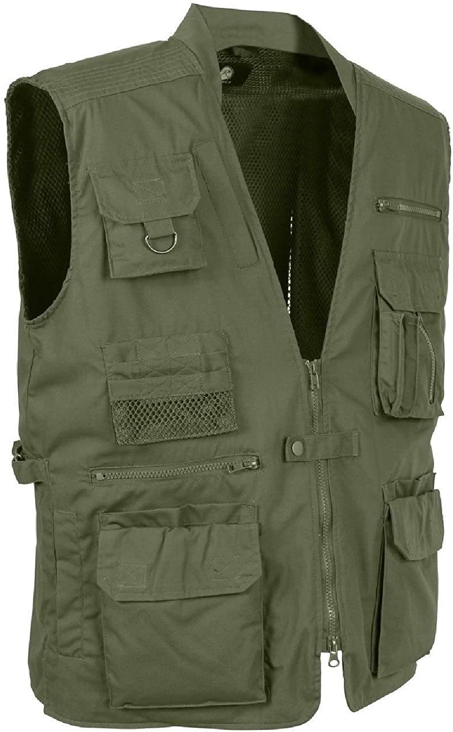 Olive Drab multi-pocket Cargo Tactical Concealed Carry Travelベスト  3X-Large