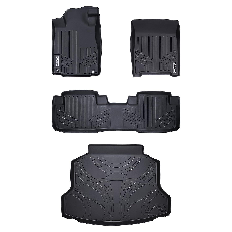Factory Lower Deck Position Set Black for 2017-2019 Honda CR-V SMARTLINER Custom Fit Floor Mats 2 Rows and Cargo Liner