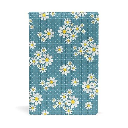 Amazon.com: QIAOSHENG Lovely Daisy PU Leather