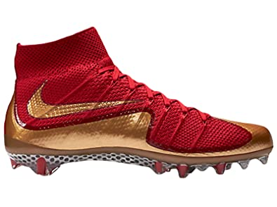 Men's Nike Vapor Untouchable Football Cleat Gym Red/Gold 698833-676 ...