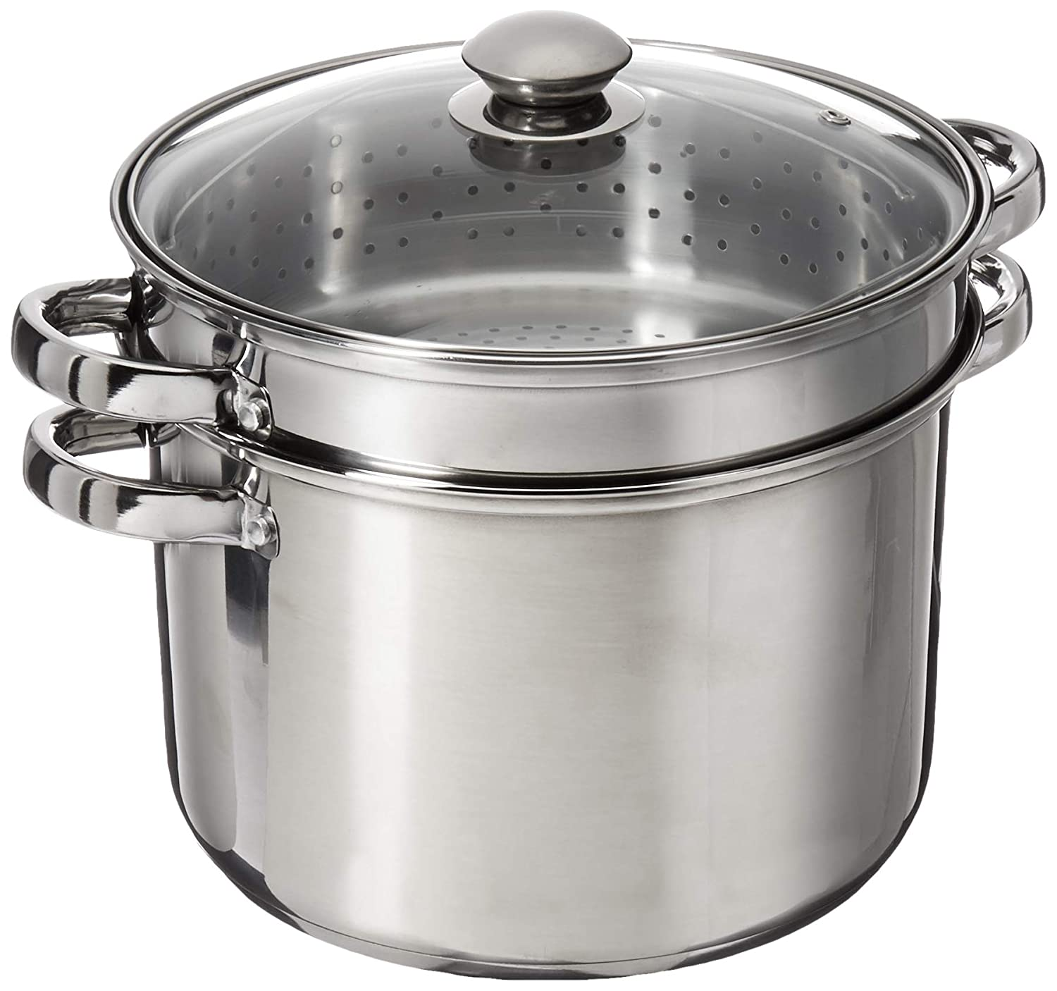 8 Quart 18/10 Stainless Steel 4 Piece Multi-Cookware Set With Encapsulated Base