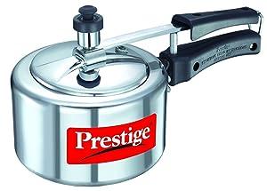 Prestige Nakshatra 11560 Aluminum Pressure Cooker, 1.5 Liter, Silver