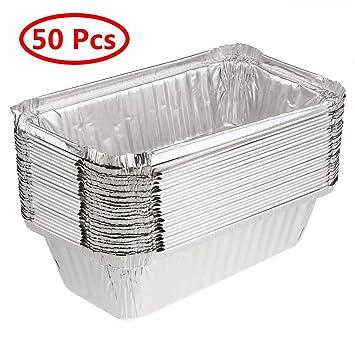 IEFIEL - Bandejas desechables de aluminio para hornear tartas de postre
