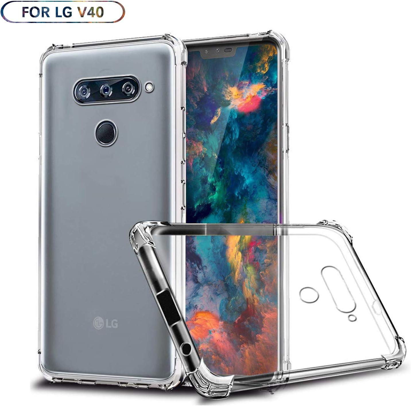 SCL LG V40 Funda, LG V40 Estuche de TPU Anti-arañazos Claro como ...