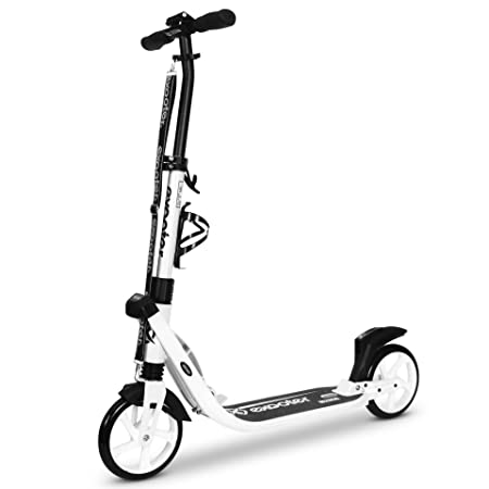 EXOOTER 9XL Adult Cruiser Kick Scooter with White Wheels in White Finish
