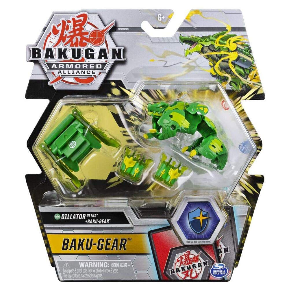 Bakugan Ultra, Ventus Gillator with Transforming Baku-Gear, Armored Alliance 3-inch Tall Collectible Action Figure…