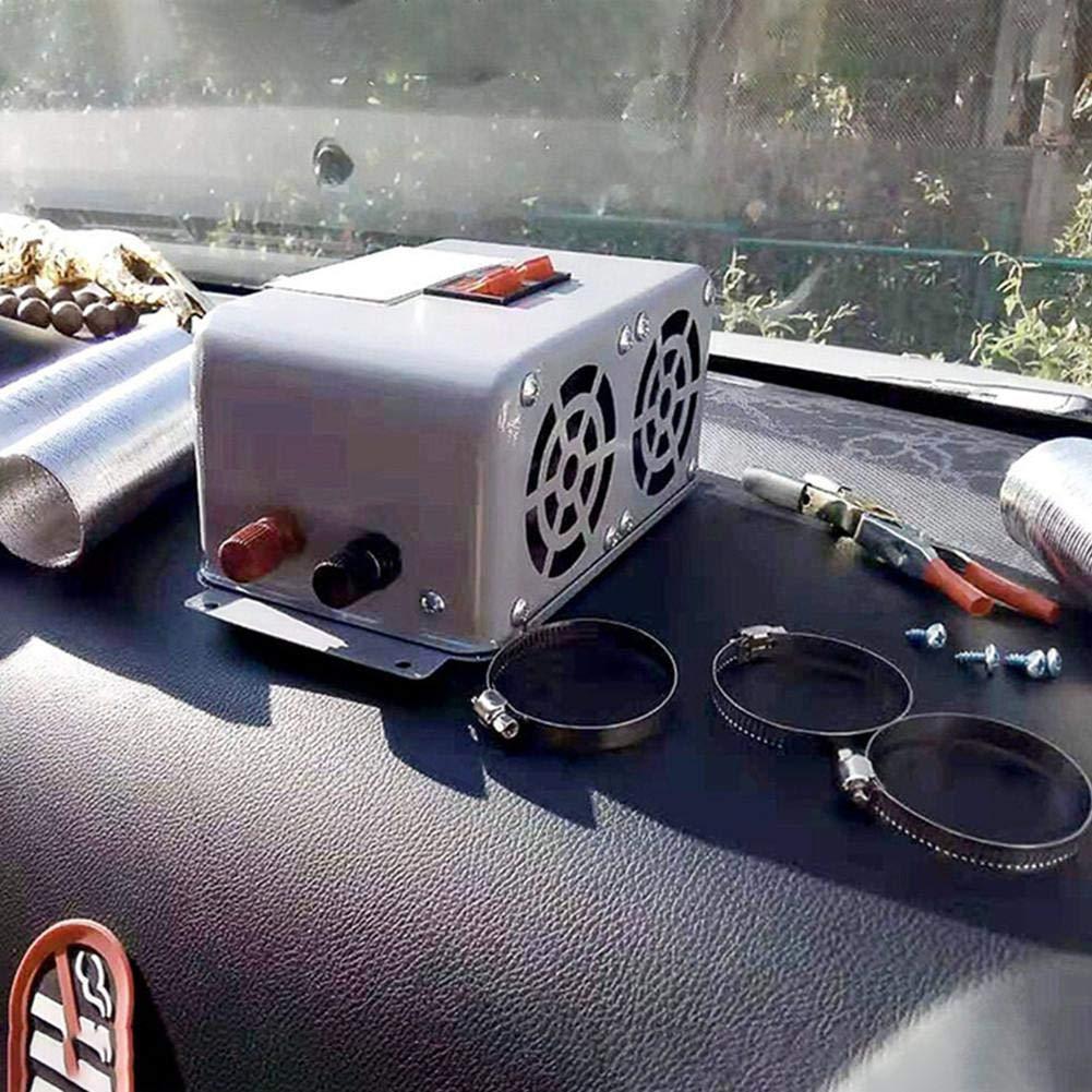 Esplic 12V 24V Riscaldatore del Ventilatore del Veicolo dellautomobile Demister per Parabrezza per Auto Portatile A 3 Porte Sbrinatore Defogger Riscaldatore dAria Compatto