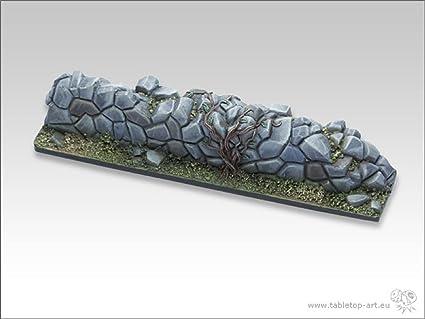 amazon com tabletop art wall template stone wall terrain item