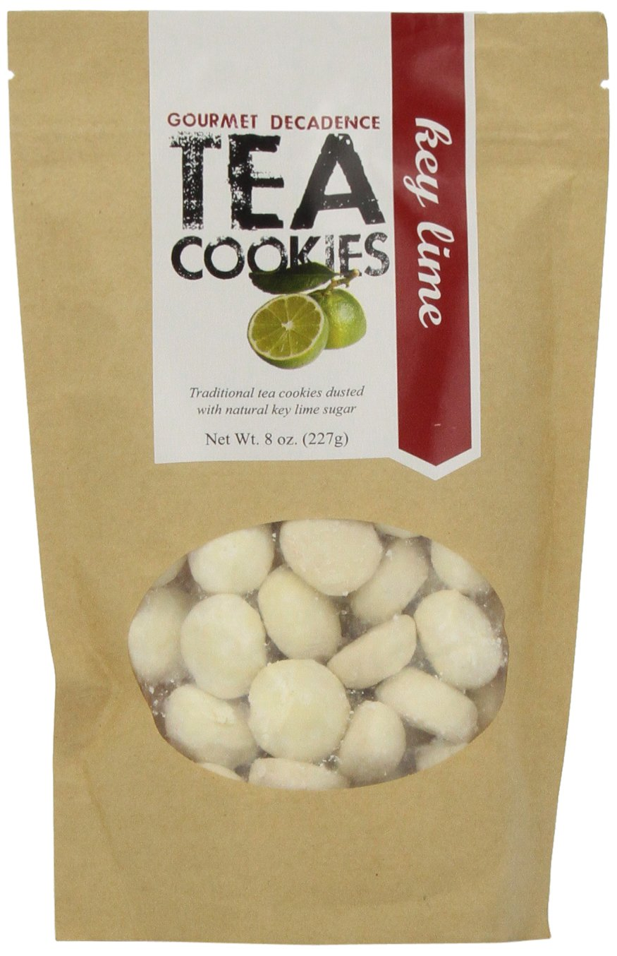The Famous Pacific Dessert Company Tea Cookies, Key Lime Decadence, 8-Ounce (Pack of 4)