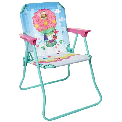 Trolls 2 Patio Chair for Kids, Portable Folding Park Lawn Chairs: Toys & Games