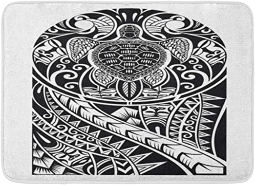 Kanaite Alfombrilla de baño Brazo Diseño de Tatuaje maorí ...