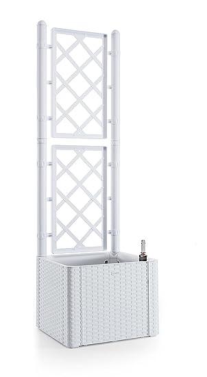 Gut Rankgitter, Spalier mit Pflanzkasten in Rattan-Design aus robustem  PN96