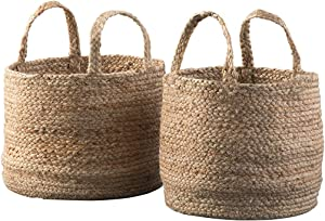 Signature Design by Ashley - Brayton Baskets - Set of 2 - Casual - Jute - Natural Color
