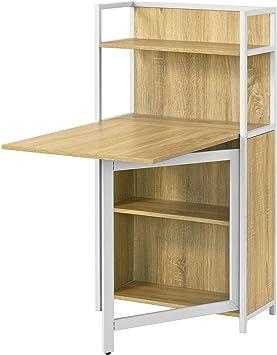 Sobuy Fwt12 N Bureau Table Pliante Armoire Avec Table Pliable