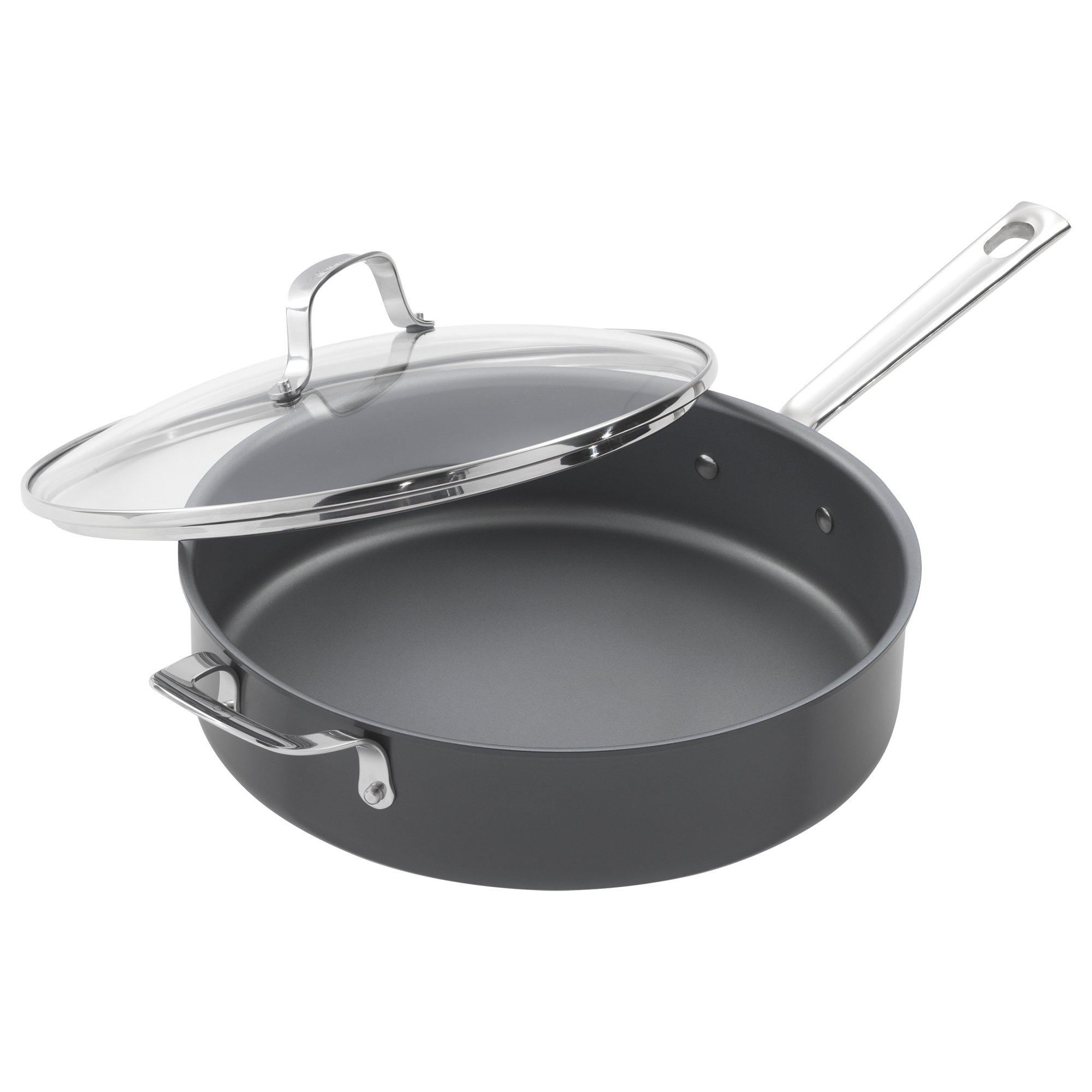 Emeril Lagasse 62928 Dishwasher safe Nonstick Hard Anodized Covered Deep Saute Pan, 5-Quart ,Gray
