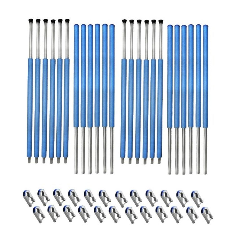 Netzstangen 12 x komplett für Sicherheitsnetz des Trampolin 396 bis 400 cm