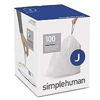 simplehuman Code J Custom Fit Drawstring Trash Bags, 30-45 Liter / 8-12 Gallon,...