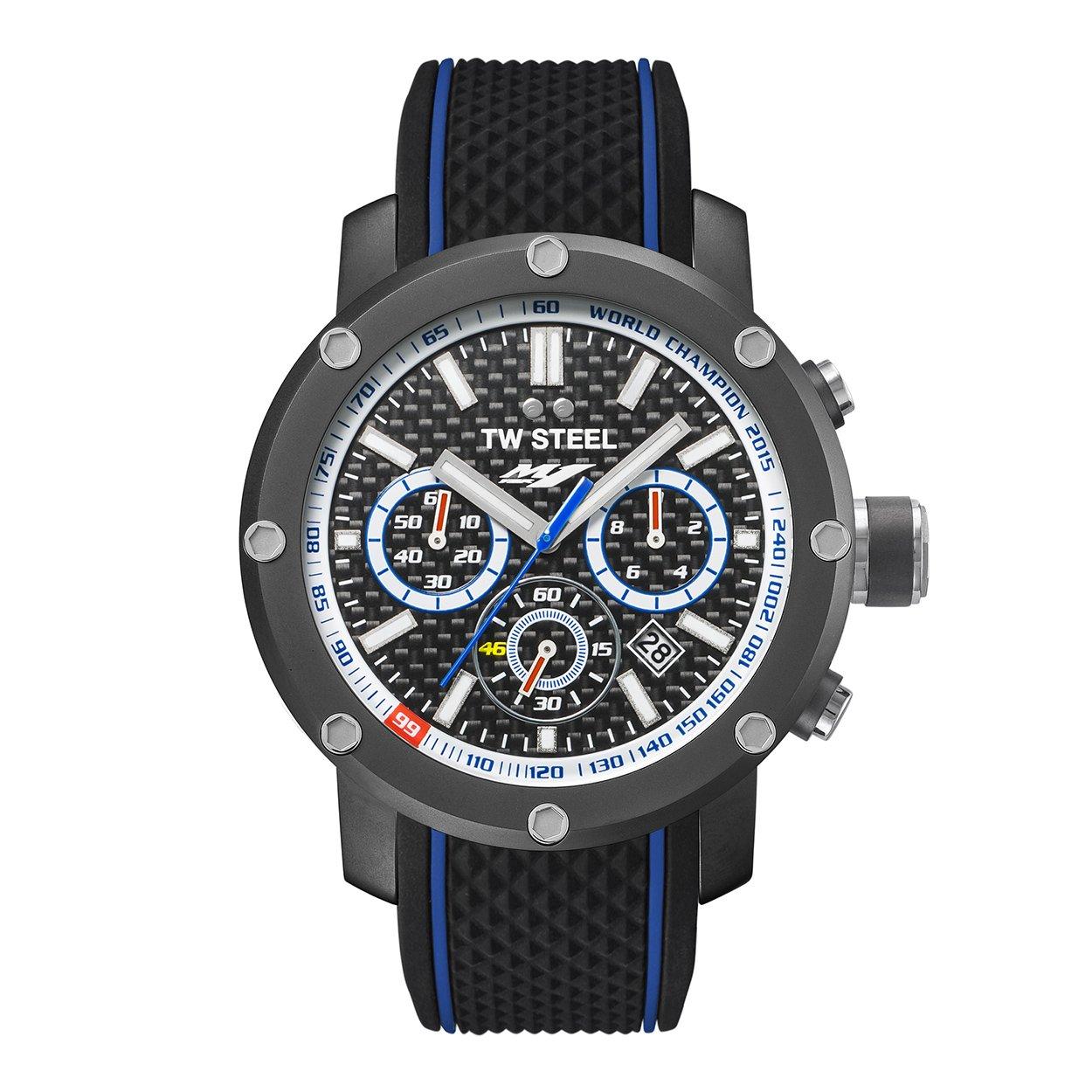 TW Steel Reloj Cronógrafo para Hombre de Cuarzo con Correa en Silicona TS7: Amazon.es: Relojes