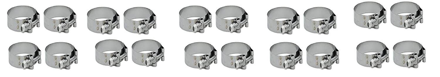 Vibrant 2803 Stainless Steel T-Bolt Clamp, Pack of 2
