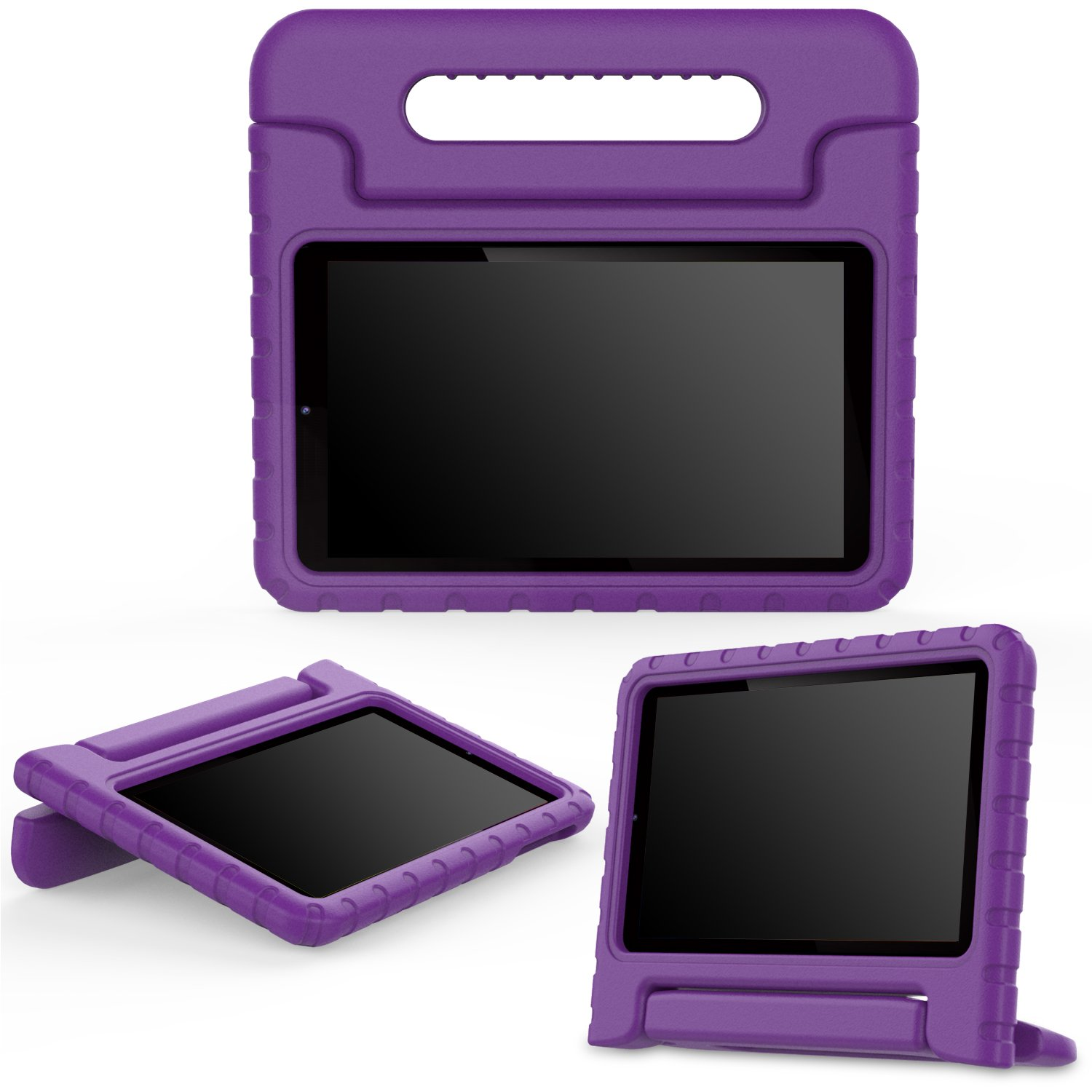MoKo Dragon Touch S8 Case - Kids Shock Proof Convertible Handle Light Weight Protective Stand Cover for Dragon Touch S8 8'' Intel Quad Core 64 bits Android Tablet, PURPLE