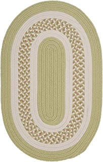 product image for Flowers Bay Oval Area Rug, 2 by 8-Feet, Light Green